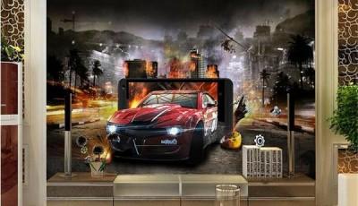 фотообои машины на стену ночью