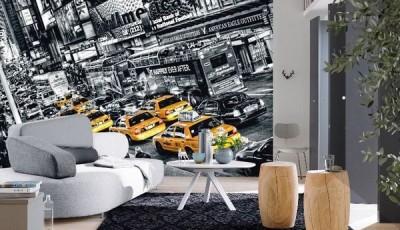 фотообои машины на стену нью-йорк