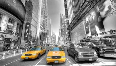 фотообои машины на стену нью-йорк такси