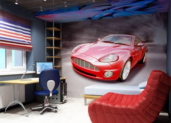 фотообои машины на стену