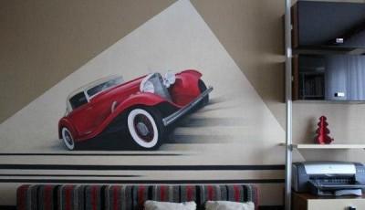 фотообои на стену автомобиль ретро