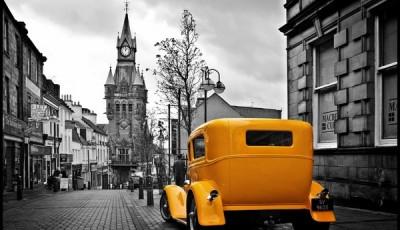 фотообои на стену автомобиль ретро в Лондоне