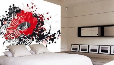 обои абстракция для стен в спальне