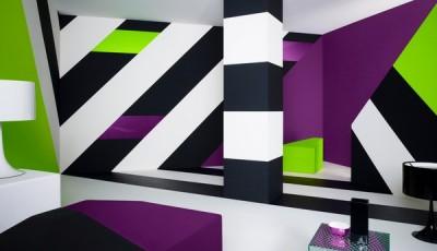 обои абстракция для стен ярких тонов