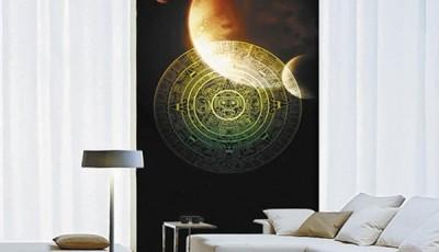 Фотообои космос на стене зала