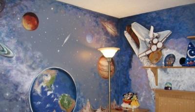 Фотообои космос в детской