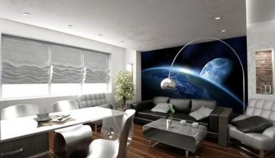 Фотообои космос в кабинете