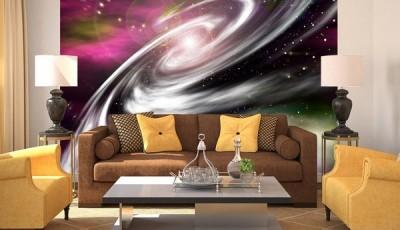 Фотообои космос в классической гостиной