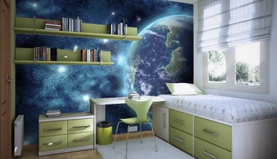 Фотообои космос в комнате подростка