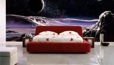 Фотообои космос в спальне панорамные