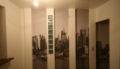 Фотообои в коридор небоскребы