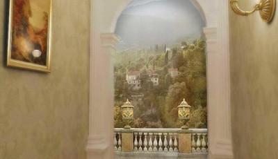 Фотообои в коридор с аркой