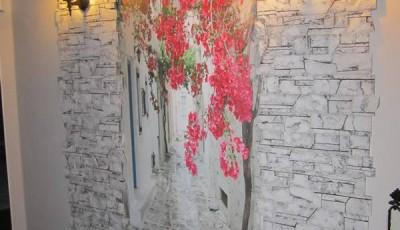 Фотообои в коридор цветы