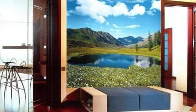 фотообои для прихожей горное озеро