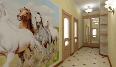 фотообои в прихожую лошади
