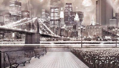 Фотообои Бруклинский мост через реку