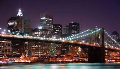 Фотообои Бруклинский мост с небоскребами