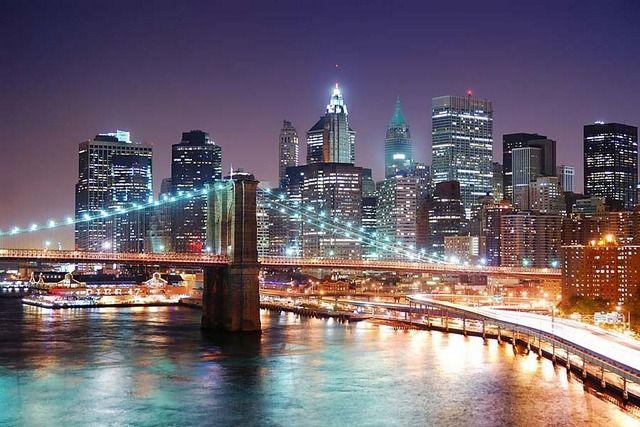Фотообои Бруклинский мост цветные