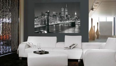 Фотообои Бруклинский мост в гостиной