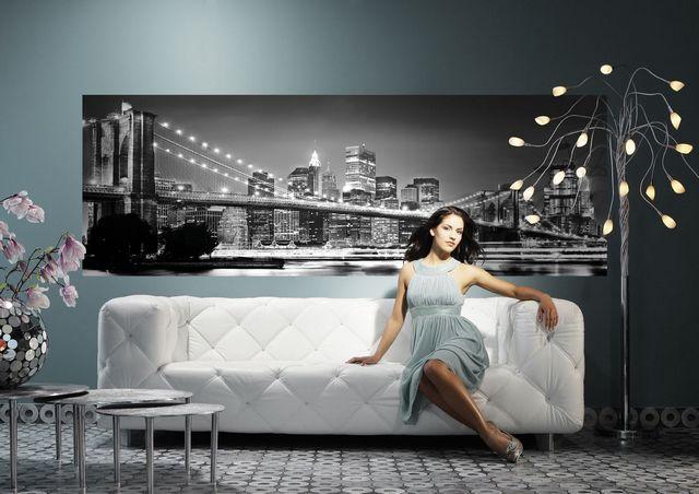 Фотообои Бруклинский мост в интерьере (фото)