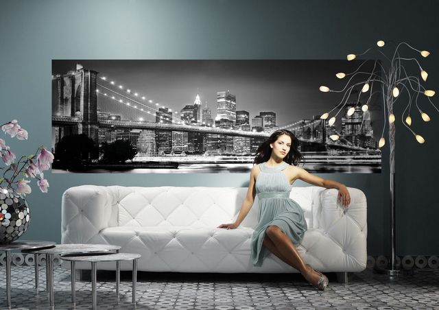 Фотообои Бруклинский мост в интерьере