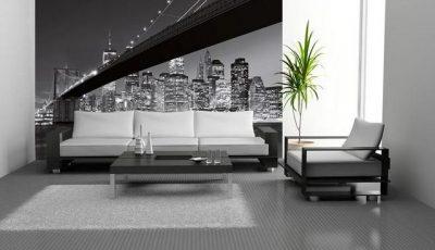 Фотообои Бруклинский мост в современном интерьере