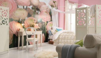 Фотообои с розовыми пионами