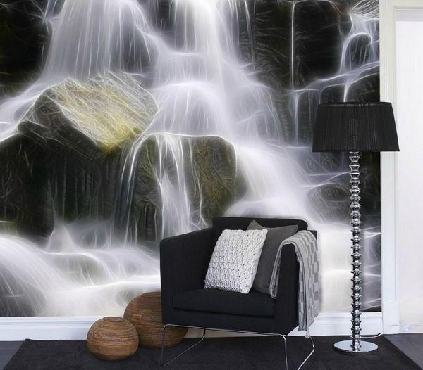 Фотообои водопад на стене