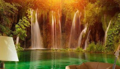 Фотообои водопад с рассветом