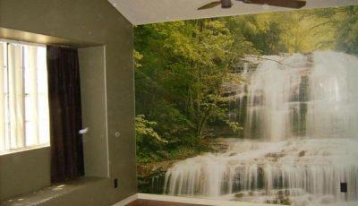Фотообои водопад в хрущевке
