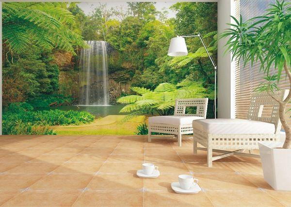 Фотообои водопад в комнате