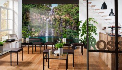 Фотообои водопад в современном интерьере