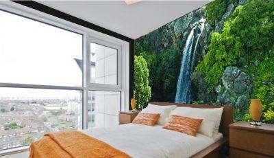 Фотообои водопад в спальне