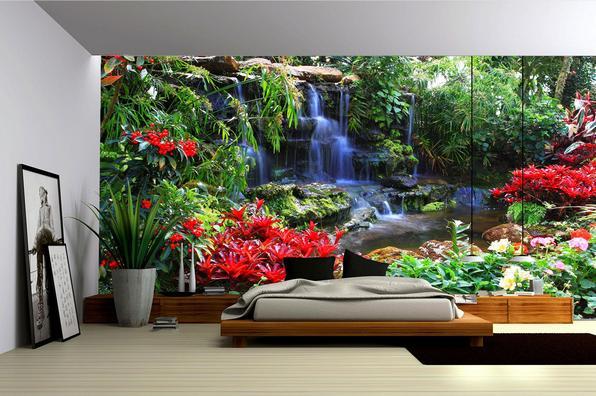 Фотообои водопады фото в интерьере