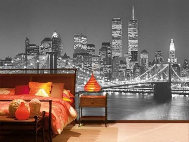 Пример бруклинского моста в спальне