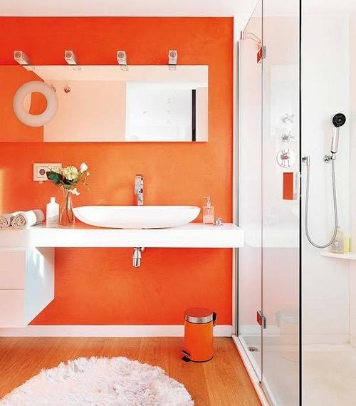 Оранжевые жидкие обои