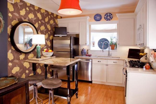 Используем зонирование на кухне