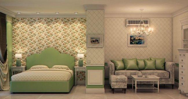 Разделение спальни с гостиной в квартире