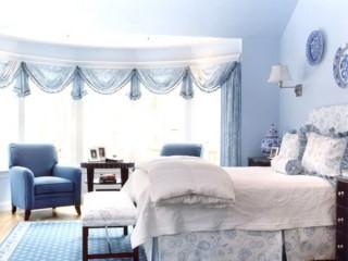 Голубые обои для спальни: идеи для интерьера