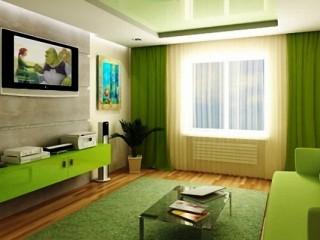 Зеленые обои: какие шторы лучше выбрать