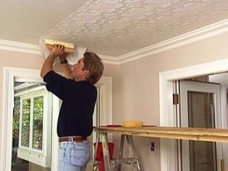 Обои под покраску на потолок: оригинальное решение
