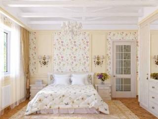 Спальня в стиле прованс: какие обои выбрать
