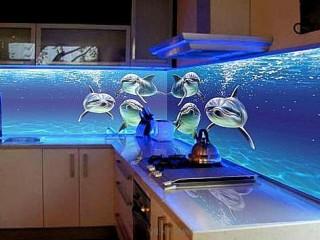 Фотообои 3д на кухню