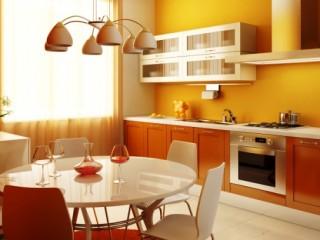 Желтые обои на кухне: солнечное настроение