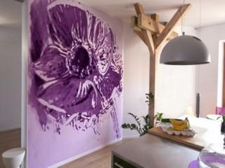 Цветы на стене: рисунок цветка своими руками