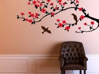 Сакура на стене – рисунок своими руками